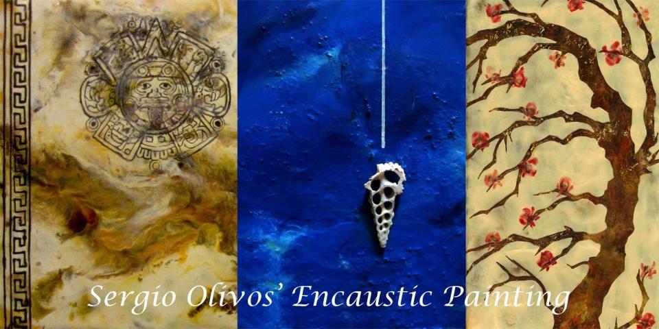 Sergio Olivos Encaustic painting 150